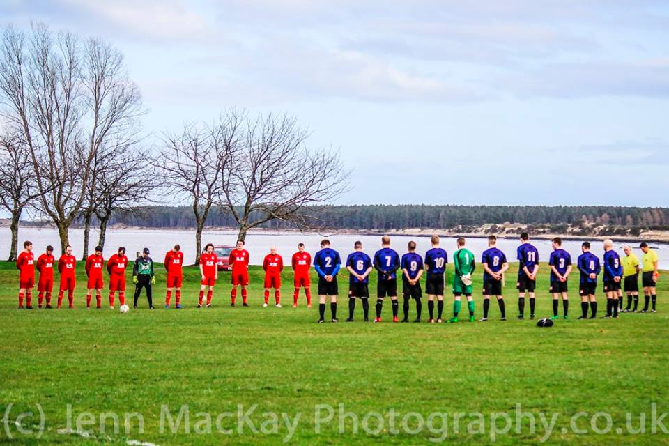 St.Duthus v Thurso minutes silence 25.2.17 - Image from jennmackayphotography.co.uk